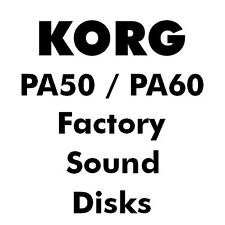 KORG PA50 PA60 Factory Sound Card Disk Diskettes PA 50 60