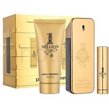 1 One Million BY Paco Rabanne 3 PCS GIFTSET 3.4 oz / 100 ml EDT SPRAY MEN SEALED