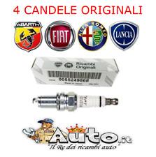 KIT 4 CANDELE ORIGINALI FIAT 500 GRANDE PUNTO EVO 1.4 ABARTH 55249868 IKR9J8