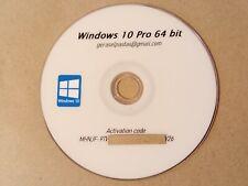 Windows 10 Pro 64 Bits Version Complète + Code d'activation 💯 d'exploitation
