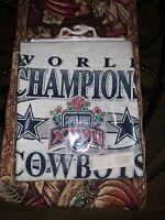 Vintage Super Bowl XXVII Dallas Cowboys Buffalo Bills Gray Tshirt Large New
