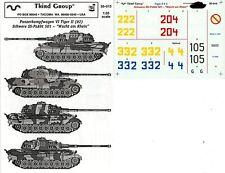 Third Group Decals 1:35 Pz.Kpfw VI Tiger II #2 Schwere SS-PzAbt 501 #35-015
