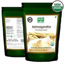 Ashwagandha Root Powder (Indian Ginseng) 1lb(16 oz) - USDA Certified Organic
