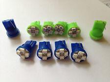 10 Mercury Blue Green LED Turn Signal Hi-Beam Indicator Dash Light Bulb Lamp NOS