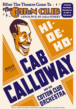 Big Band Jazz: Cab Calloway at Cotton Club Harlem Concert Poster 1931