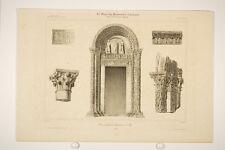Baptistère de Pise/ Pisa, Toscane, Italie, style roman, architecture, litho 19°