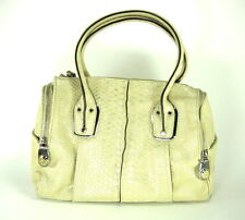 "B. MAKOWSKY WOMEN'S ""WHITNEY"" SATCHEL STONE LEATHER SNAKE ONE SIZE PRE-OWNED"