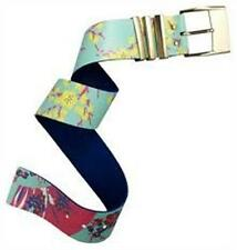VERSACE for H&M Floral Print Wide Leather Belt New With Tags Made in Italy XS