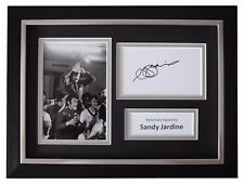 Sandy Jardine SIGNED A4 FRAMED Autograph Photo Display Rangers Football COA