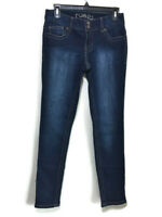 Rue21 Womens Junior Jeans Mid Rise Skinny Stretch Flap Pocket Size 3/4 Regular