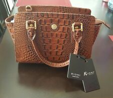Rioni Moda ItaliaThe Brief Satchel Small Brown Alligator Removable Strap Nwt