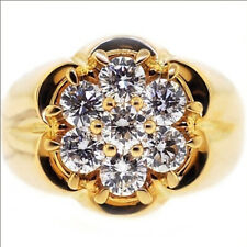 18K Yellow Gold Filled White Topaz Jewelry Fashion Engagement Women Ring Size 8