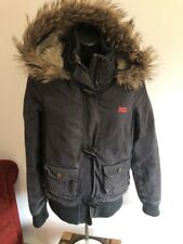"Superdry ""study"" Duffel Jacket, Super Soft Fur Lining, Size S Small Chest 32"""