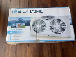 Bionaire Twin Window Fan-Digital Thermostat-Remote Control-3-SpeedSetting#BW2300