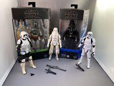 Hasbro Star Wars Black Series Figure lot Darth Vader Boba Fett Stormtrooper