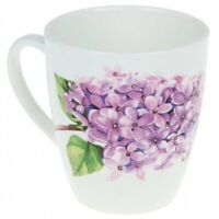 12 fl oz Ceramic Coffee Mug with Lilac Flowers Floral Print