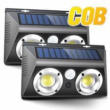 New listing 2 Pack Outdoor-Motion-Sensor-Sec urity-Light Wireless Cob Solar Powered Security