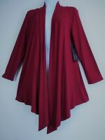 Saloos 95%Viscose 5% Elast 3/4 Sleeve Open Front Waterfall Cardigan 5Cols 12-22
