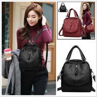 Fashion Multi-Functional Women's Large Capacity Handbag Faux Leather Totes Purse