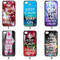 For Designer Phone Hard Case Cover Keep Calm Variety Collection 6