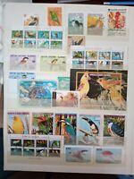 Vögel Lot Timbres Stamps Briefmarken Sellos