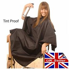 Tint Proof Hair Salon Hairdressing Cape Gown Black Stud Fastening HAIR TOOLS