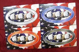 2001 STATE QUARTER COLLECTION PLATINUM GOLD PHILADELPHIA DENVER MINT SET (4)
