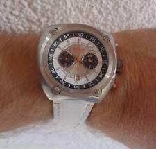 Herrenuhr von Hugo Boss orange; Chronograph in weiß #HB511; extravagante Bauform