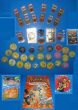BIG 45+ Pokemon Lot Kanto Gym Leader Badges/Pins (3 NEW) TOMY Milk Caps Yveltal