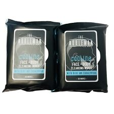 Lot of 2 The Nobleman Cooling Face & Body Cleansing Wipes W/ Aloe & Eucalyptus