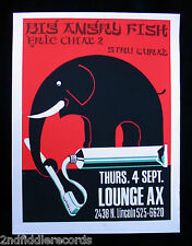 STEVE WALTERS-BIG ANGRY FISH Poster-Screwball Press-LOUNGE AX-Indie Rock