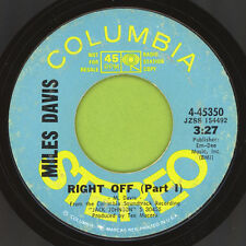 MILES DAVIS Right Off I & 2 HEAR Promo Jazz Funk Beats VG+ Columbia 4-45350 1971