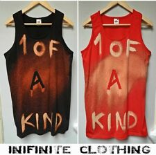 Tie Dye Solid Sleeveless T-Shirts for Men
