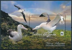 [E14313] Tristan Da Cunha 2013 WWF - SEA BIRDS - FAUNA Good sheet very fine MNH