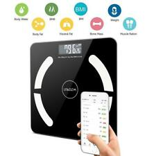 400lb LCD Digital Body Fat Scale Smart Bluetooth APP Bathroom Weighing Scales