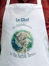 NORFOLK TERRIER DOG DESIGN APRON KITCHEN ACCESSORY SANDRA COEN ARTIST PRINT