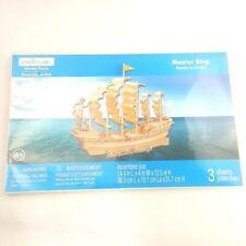 Creatology Wooden Puzzle Master Ship Model Sealed