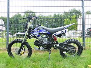 125 ccm Dirtbike Dirt Pocket Pit Bike Pitbike Cross 17/14 Enduro KXD 607 Blau