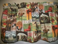 Country Farm Kitchen Cow Chicken Apples Pigs Horse fabric curtain topper Valance