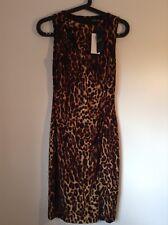 100 Auth Ralph Lauren Ladies Brown Ocelot Dress. UK 6