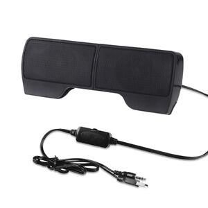 P01C 6W mini tragbarer Lautsprecher über 3.5mm Klinke USB für LAPTOP PC NOTEBOOK