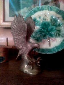 Vintage Small Brass Eagle Statue