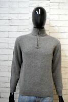 BEST COMPANY Uomo S Maglione Lana Grigio Pullover Cardigan Felpa Sweater Man
