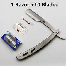 Straight Edges Steel Razors Barber Hairs Removal Tools Folding Shaving Knife Kit
