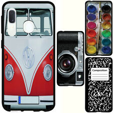 for Samsung Galaxy A20/A50(Black) Slim Flexible TPU Skin Phone Case Cover-H