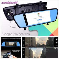 """7"""" LCD Touch 4G WIFI Bluetooth GPS HD 1080P Car DVR Rear View Mirror Tachograph"""
