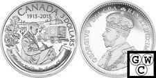 2015 $3 Fine Silver Coin '100th Ann of In Flanders Fields' 1/4oz .9999 (17482)