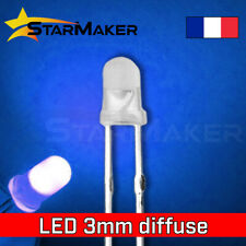 LED 3mm diffusant Bleu - 10 à 100 pcs - LED Diffused Blue fog