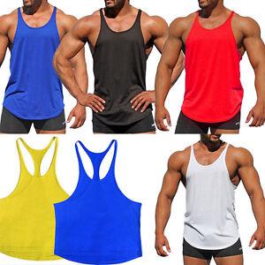 Herren Muskelshirt Muscleshirt Achselshirt Tank Top Fitness Sport Shirt Unifarbe