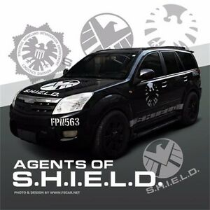Marvel Agents of SHIELD Logo Vinyl Reflective Ho Car Sticker Auto Decal Door New